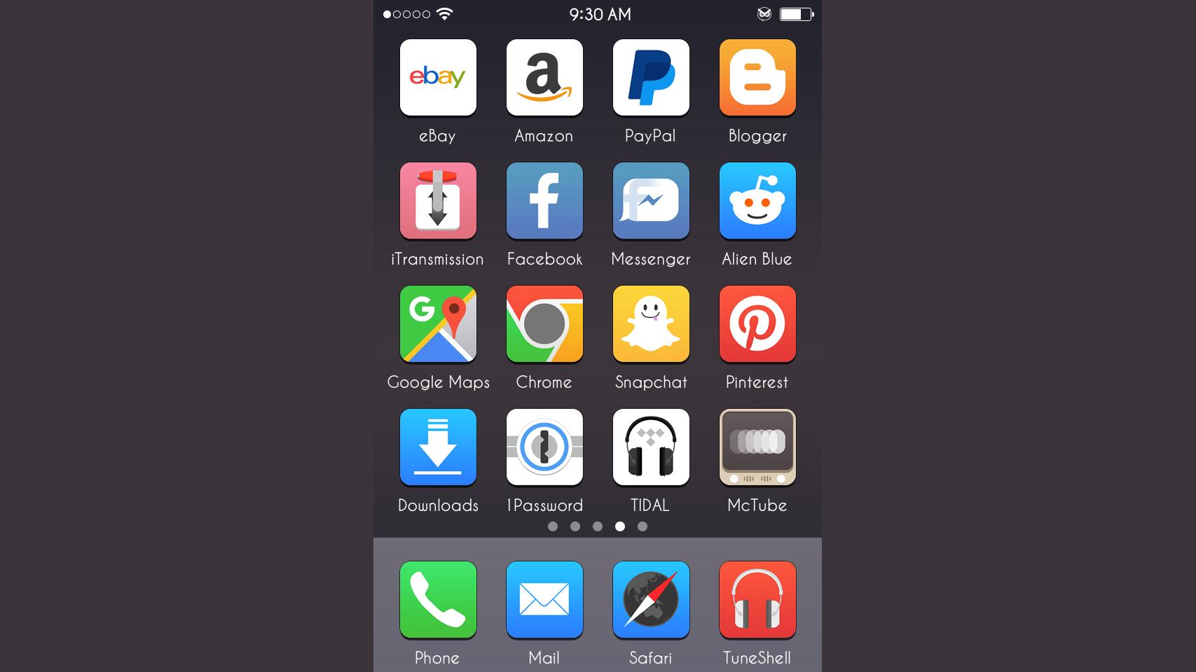 Luna iOS 7/8/9 Theme
